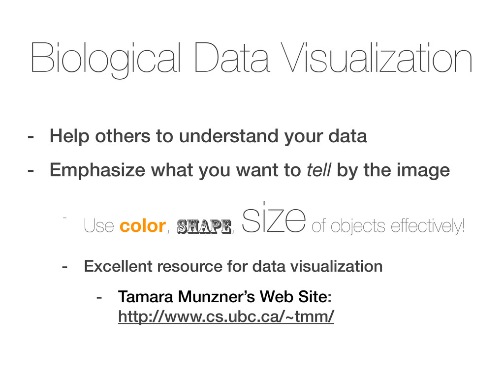Biological Data Visualization - Help others to ...