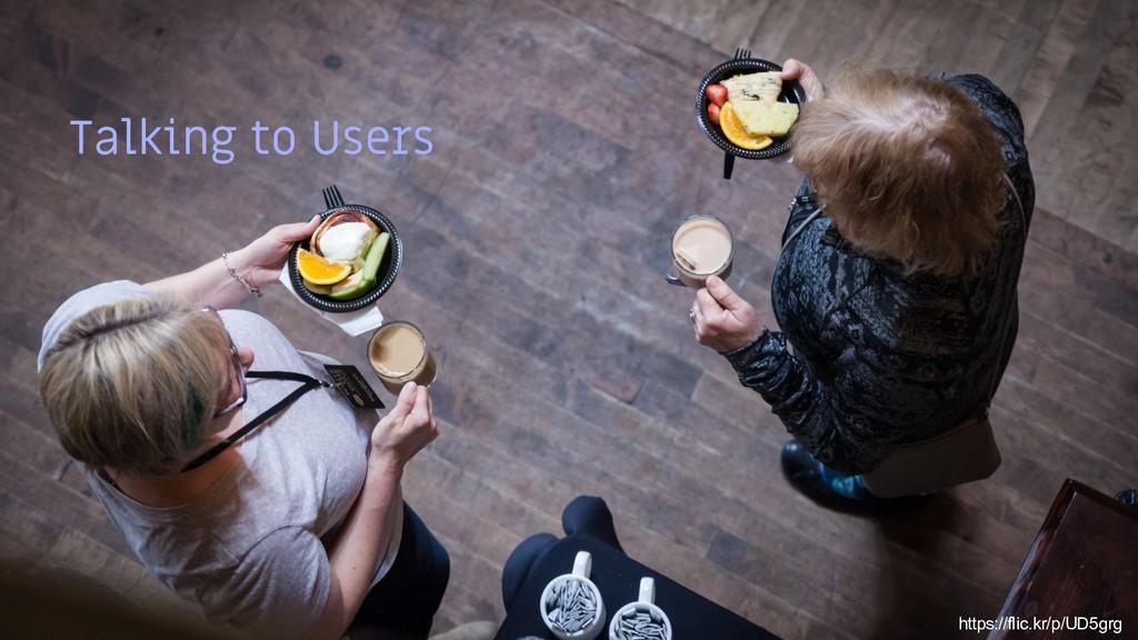 25 Talking to Users https://flic.kr/p/UD5grg