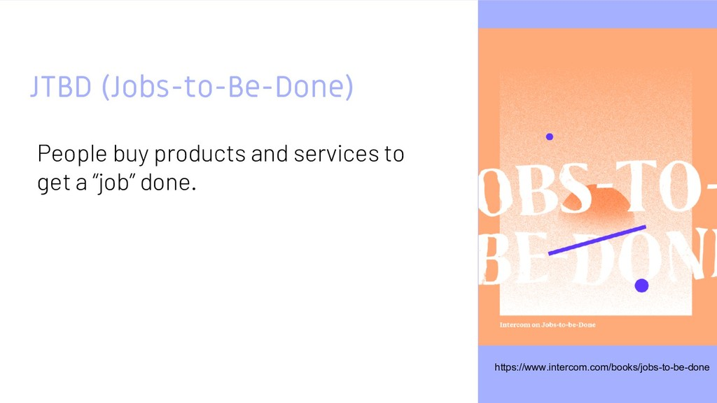 JTBD (Jobs-to-Be-Done) People buy products and ...