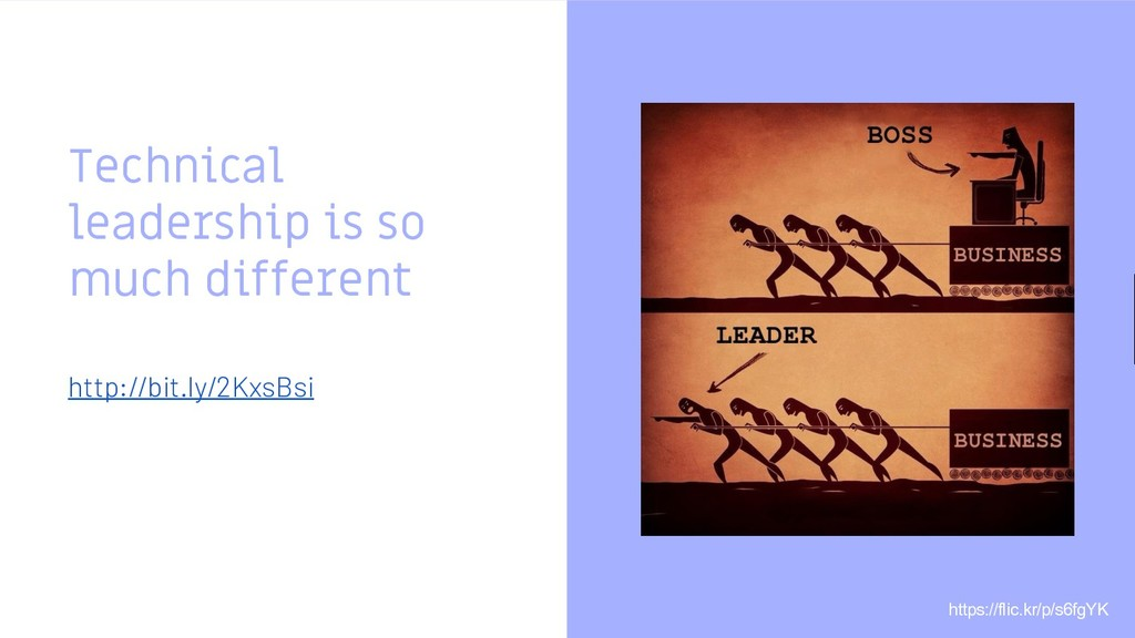 Technical leadership is so much different http:...