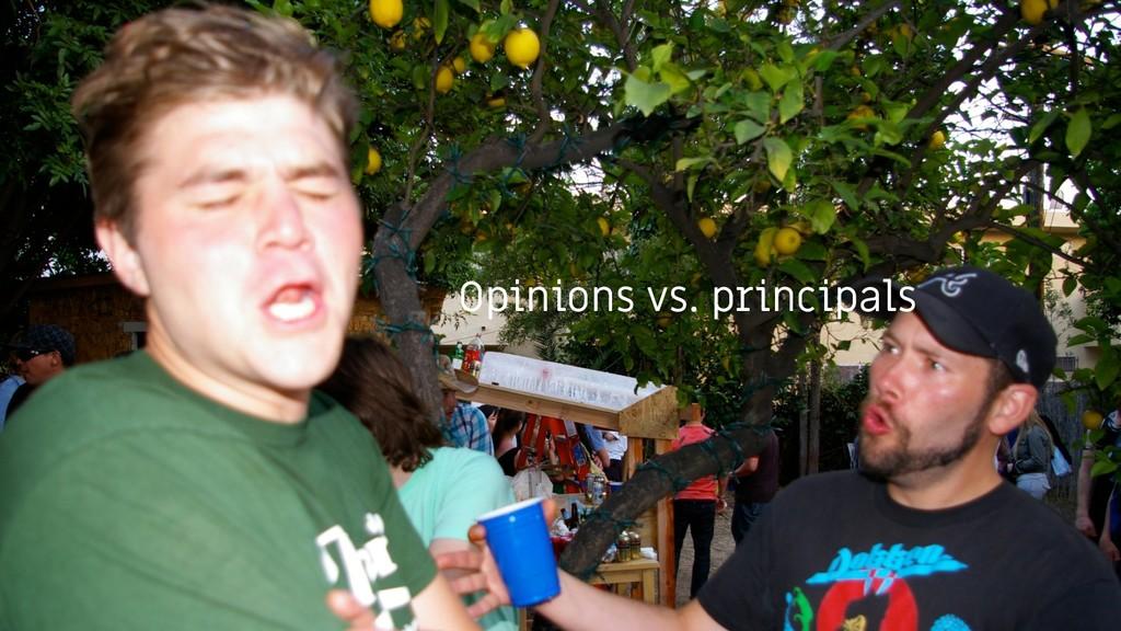 Opinions vs. principals