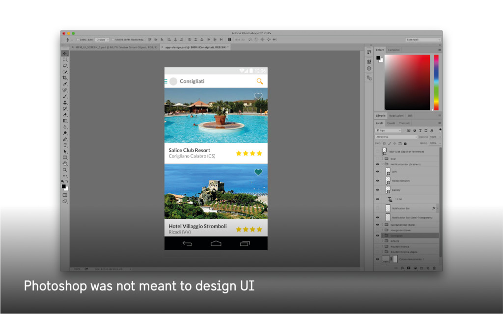 Photoshop was not meant to design UI