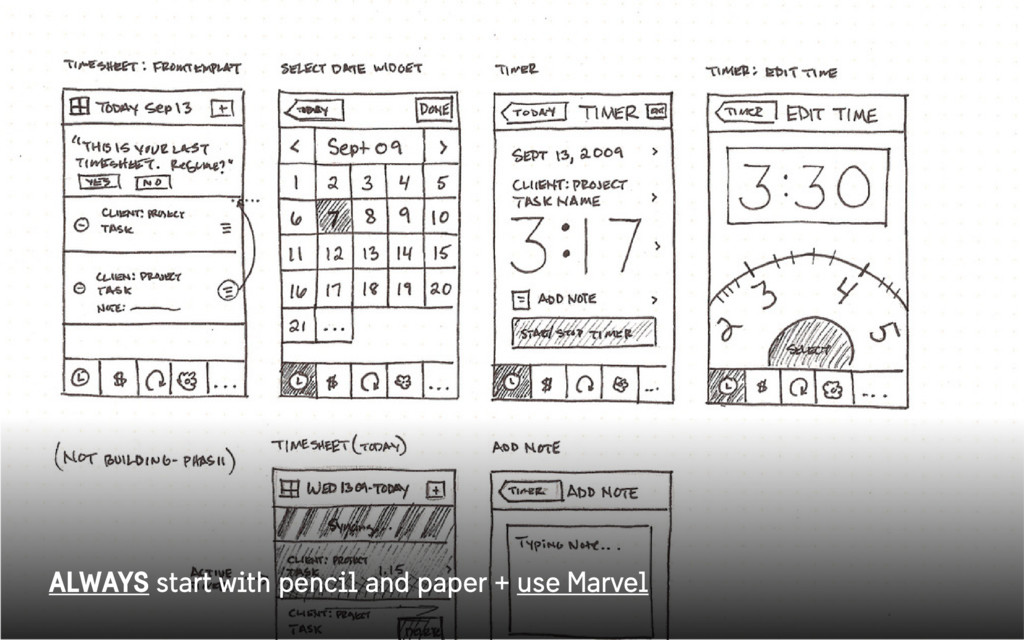 ALWAYS start with pencil and paper + use Marvel