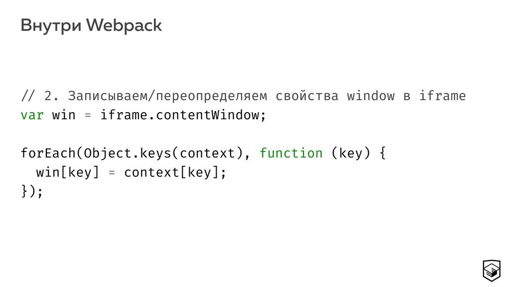 Внутри Webpack 18 !// 2. Записываем/переопредел...