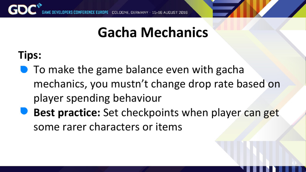 Tips: • To make the game balance even with gach...