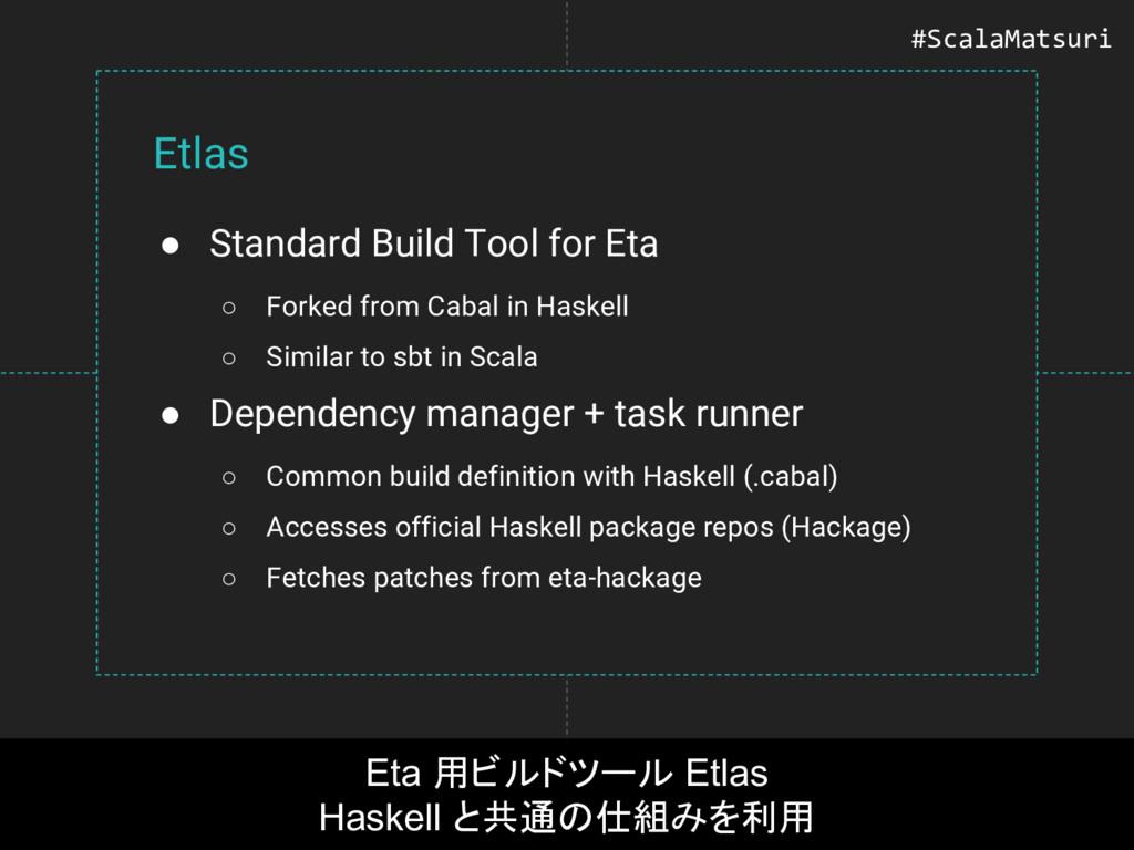 Etlas ● Standard Build Tool for Eta ○ Forked fr...