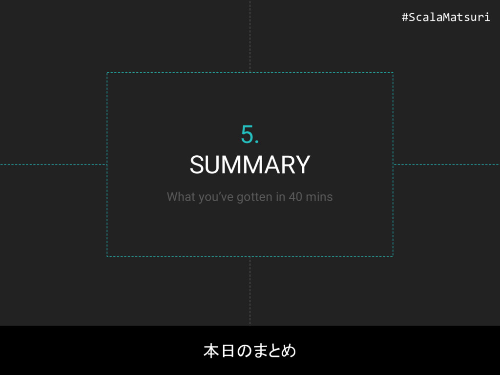 5. SUMMARY 本日のまとめ What you've gotten in 40 mins...