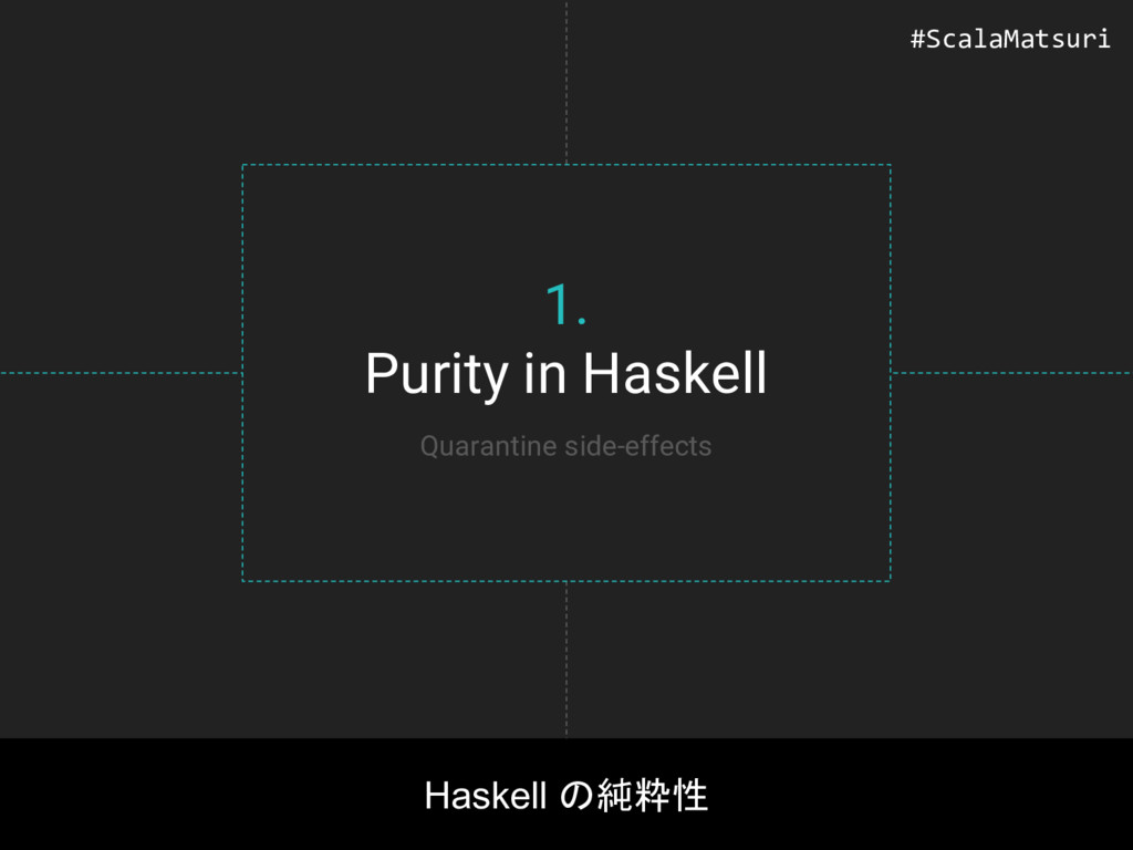 1. Purity in Haskell Haskell の純粋性 Quarantine si...