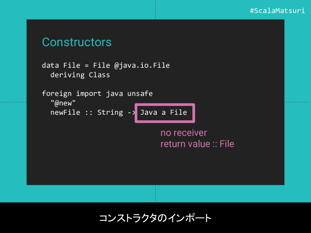 Constructors data File = File @java.io.File der...