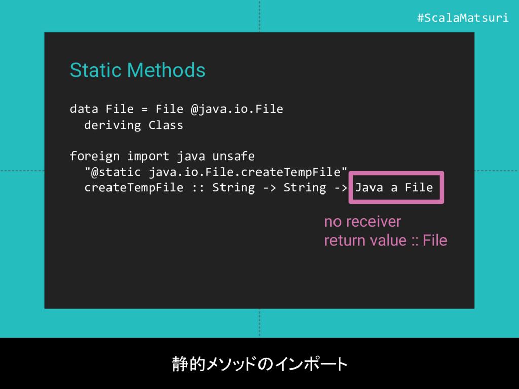 Static Methods data File = File @java.io.File d...