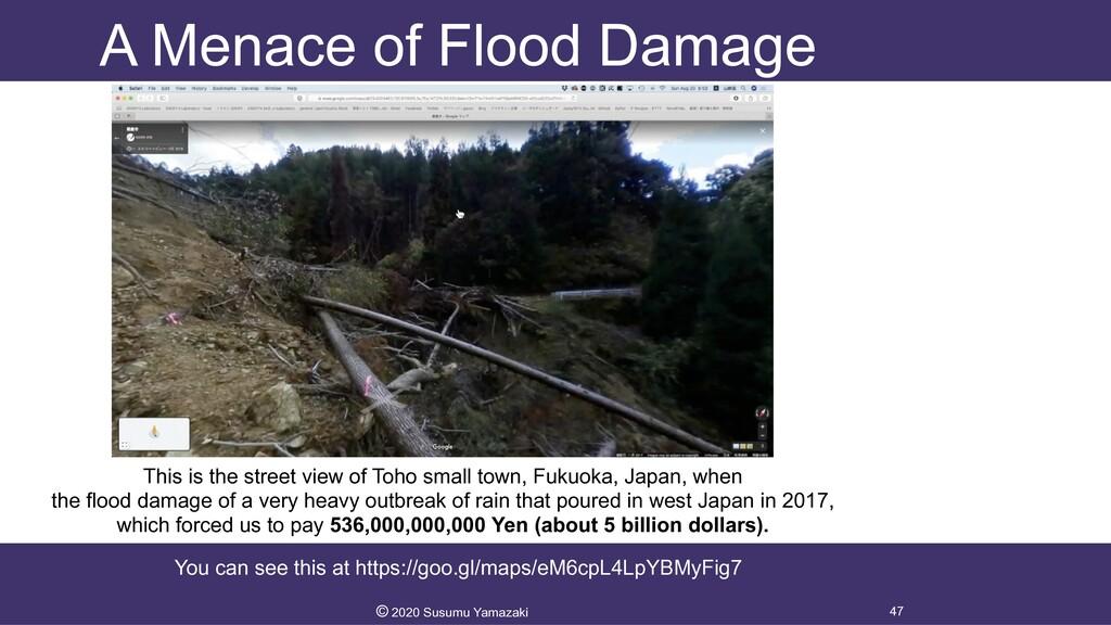 A Menace of Flood Damage 47 © 2020 Susumu Yamaz...