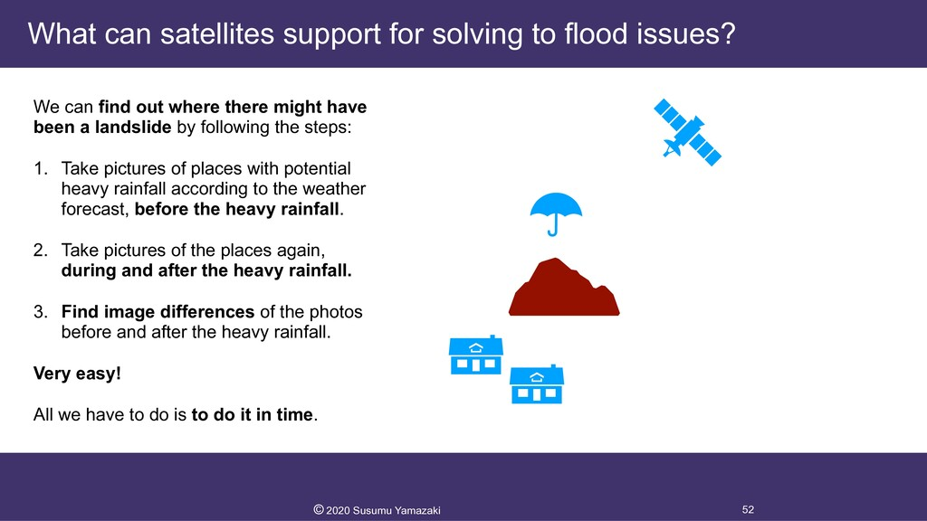 What can satellites support for solving to floo...