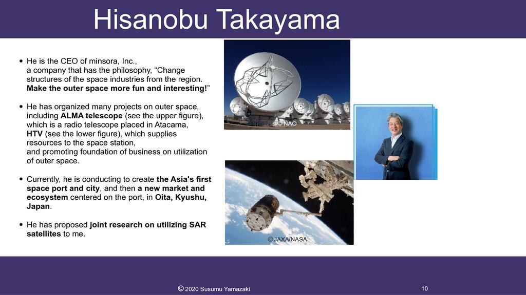 Hisanobu Takayama • He is the CEO of minsora, I...