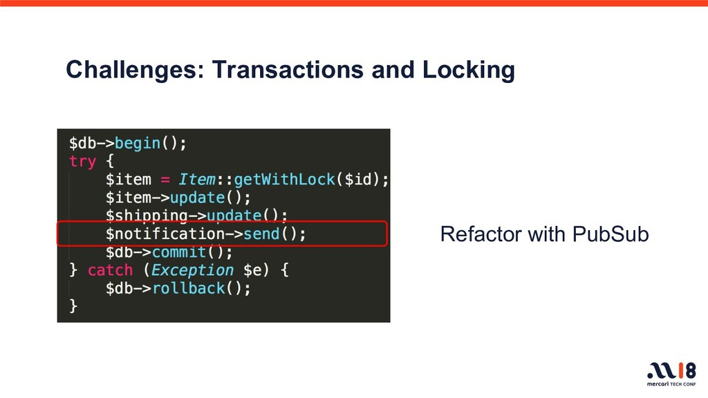 Challenges: Transactions and Locking     Refact...