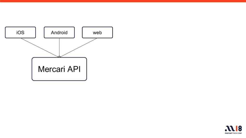 Mercari API iOS Android web