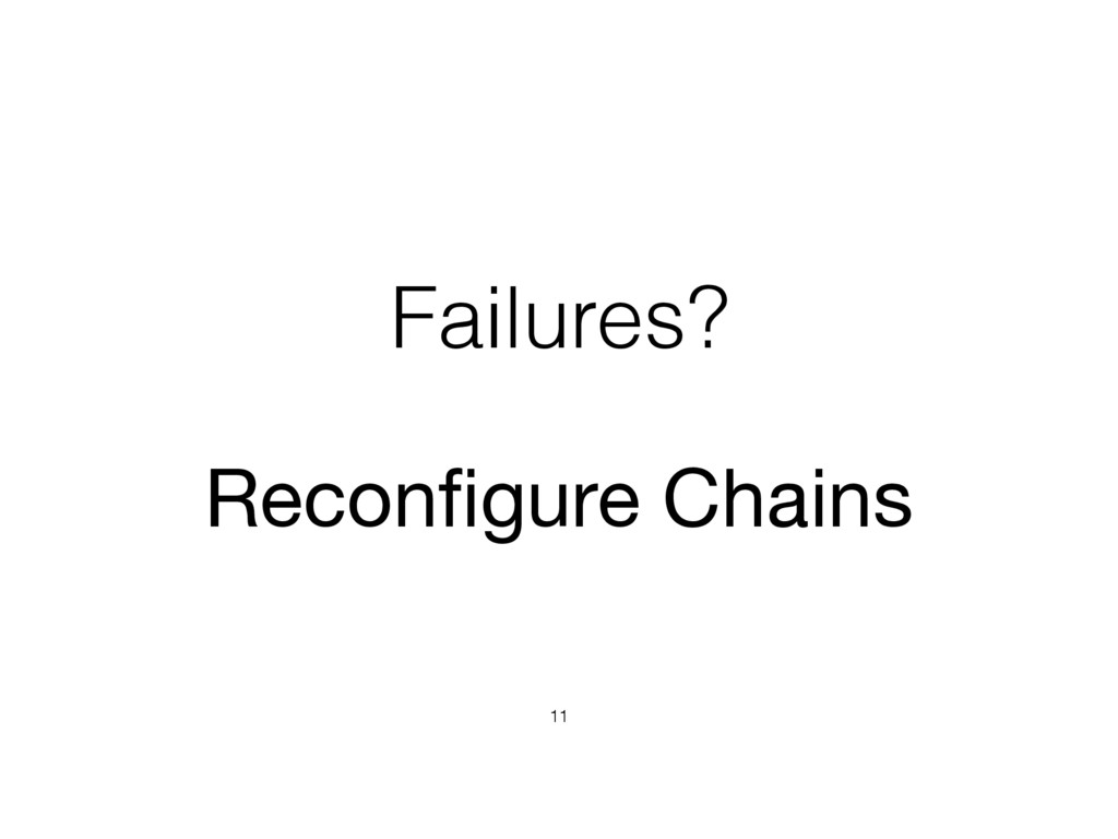 Failures? 11 Reconfigure Chains
