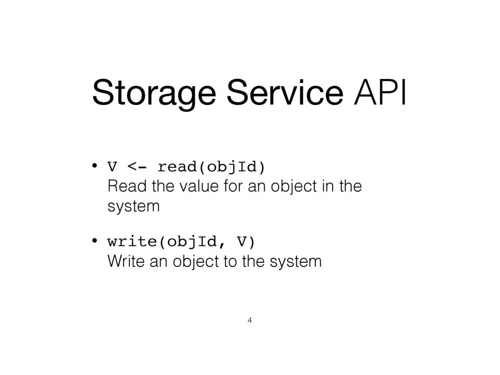 Storage Service API • V <- read(objId) Read th...