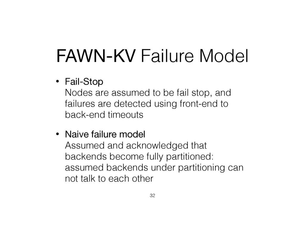 FAWN-KV Failure Model • Fail-Stop Nodes are as...