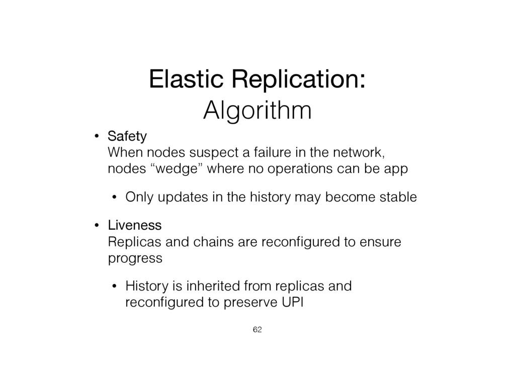 Elastic Replication: Algorithm • Safety When n...