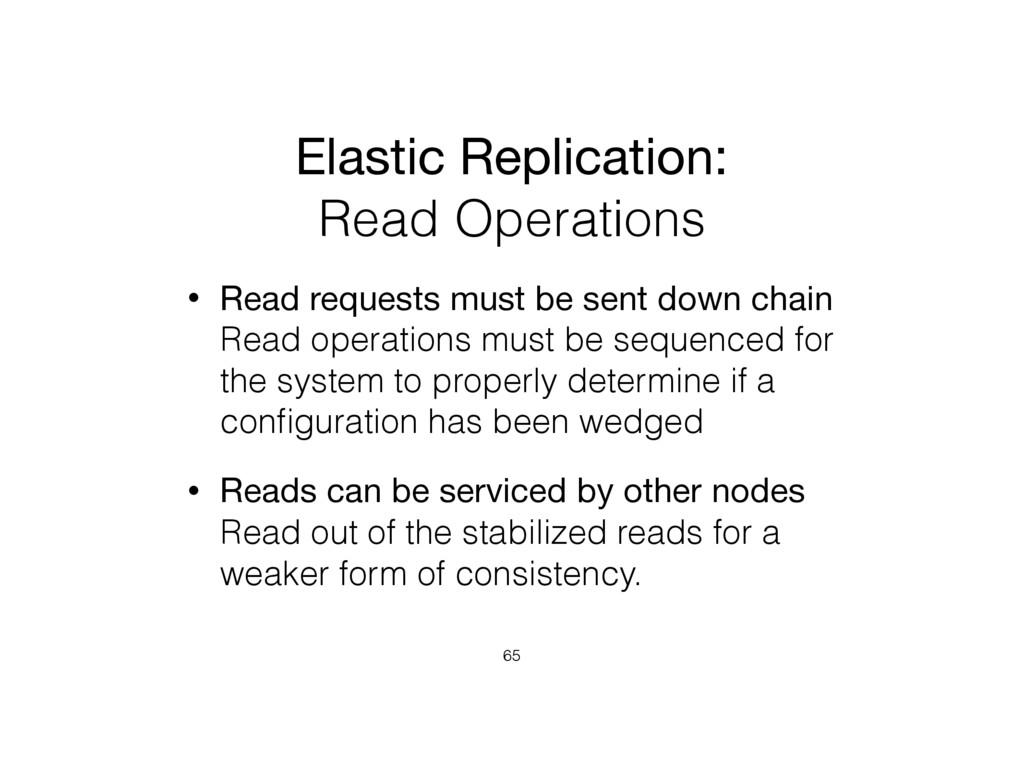 Elastic Replication:  Read Operations • Read r...
