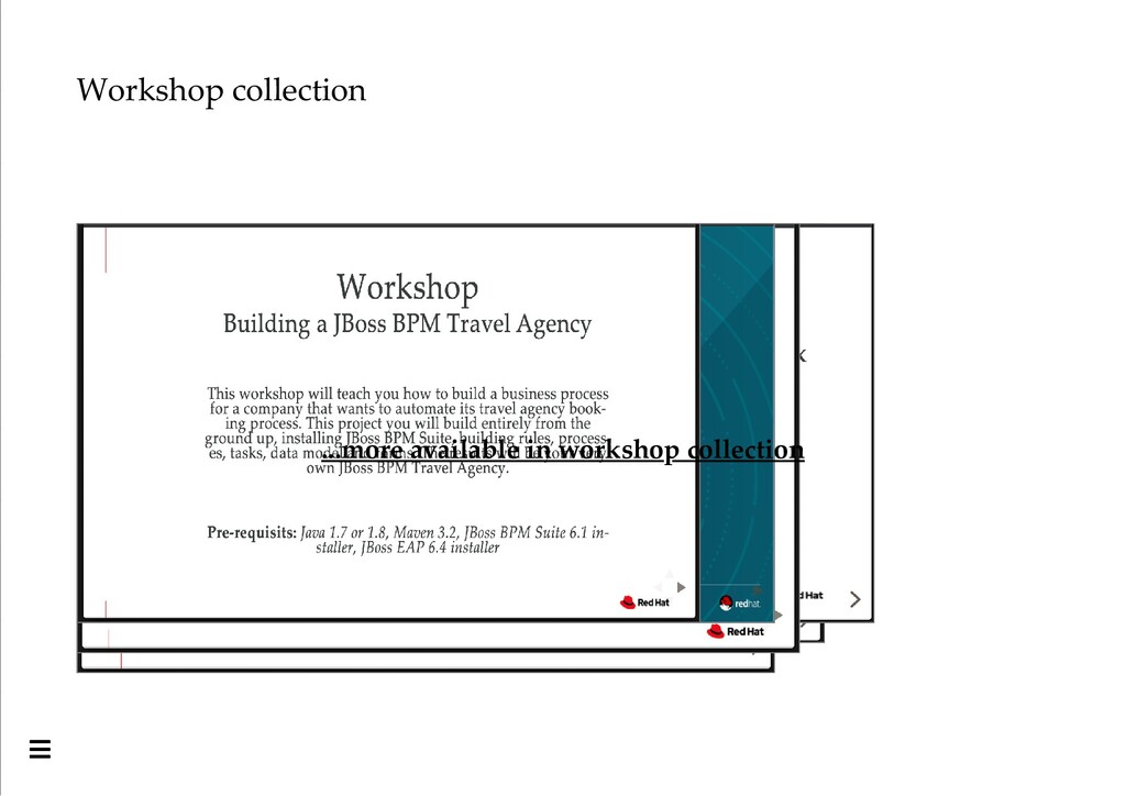 Workshop collection ...more available in worksh...
