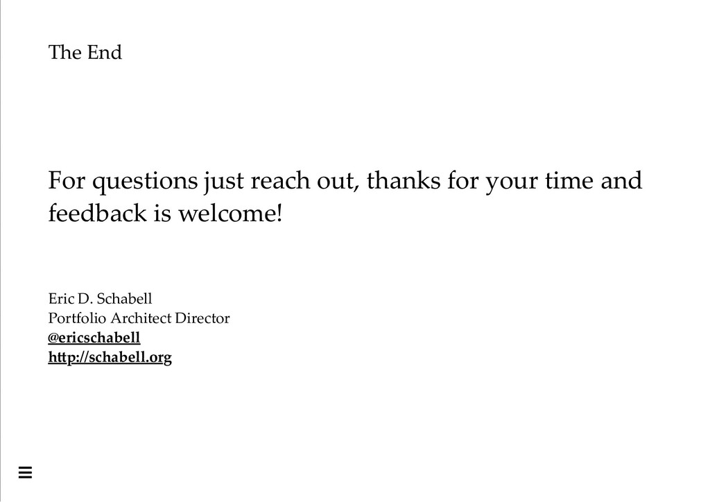 The End For questions just reach out, thanks fo...