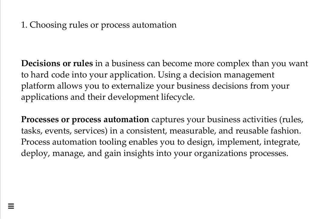 1. Choosing rules or process automation Decisio...