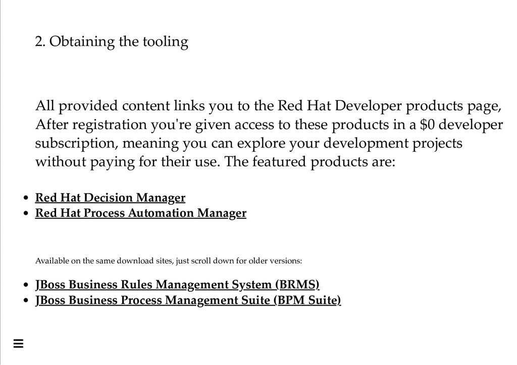 2. Obtaining the tooling All provided content l...