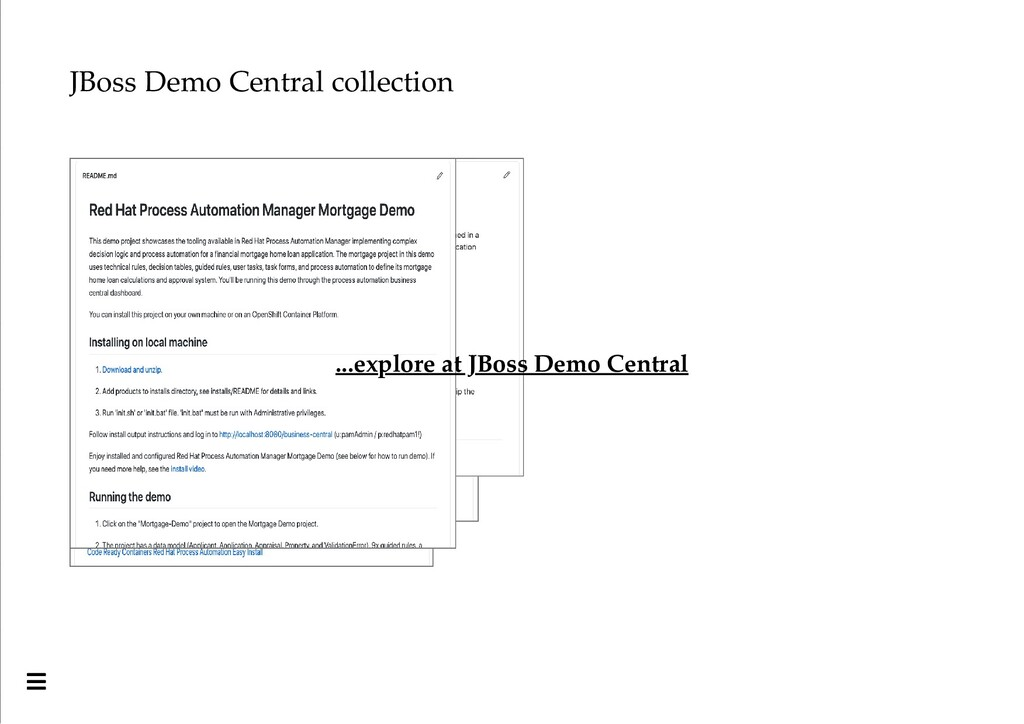 JBoss Demo Central collection ...explore at JBo...