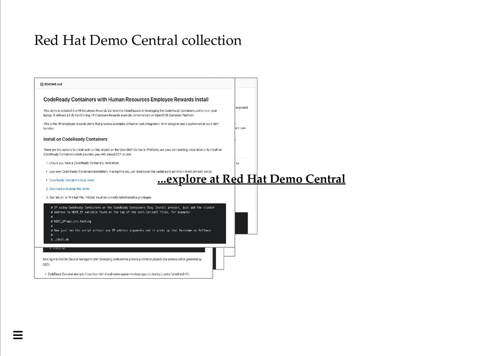 Red Hat Demo Central collection ...explore at R...