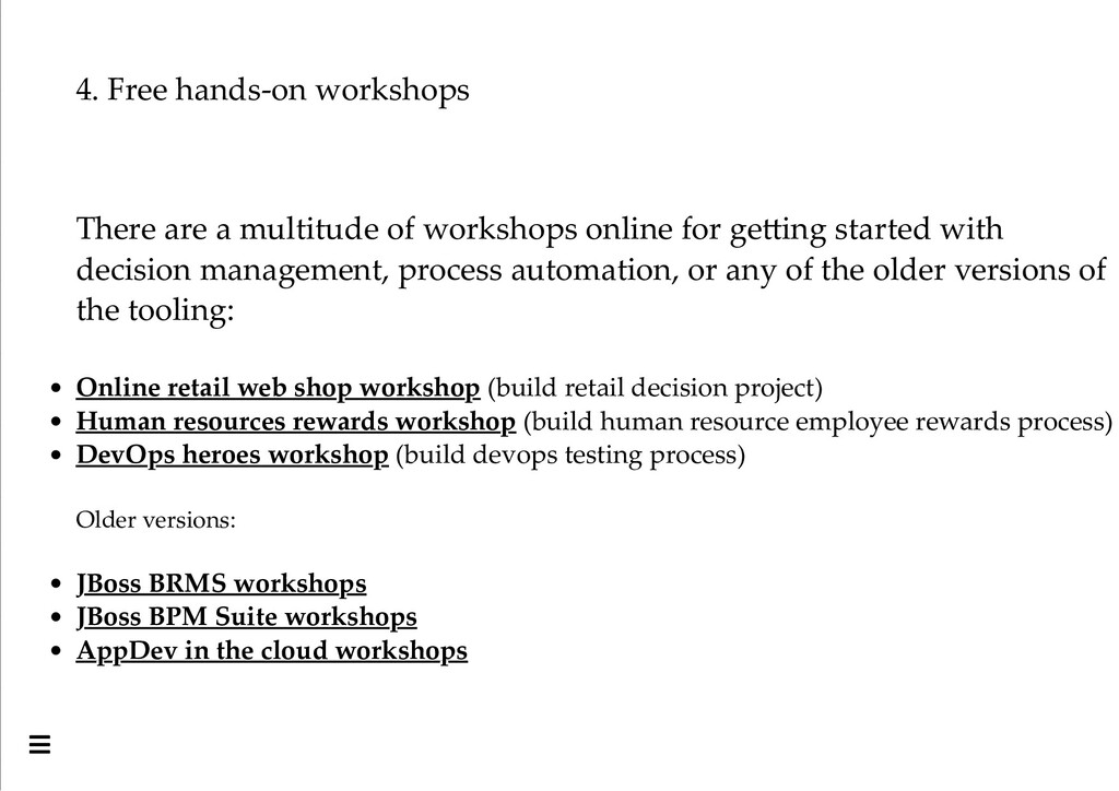 4. Free hands-on workshops There are a multitud...