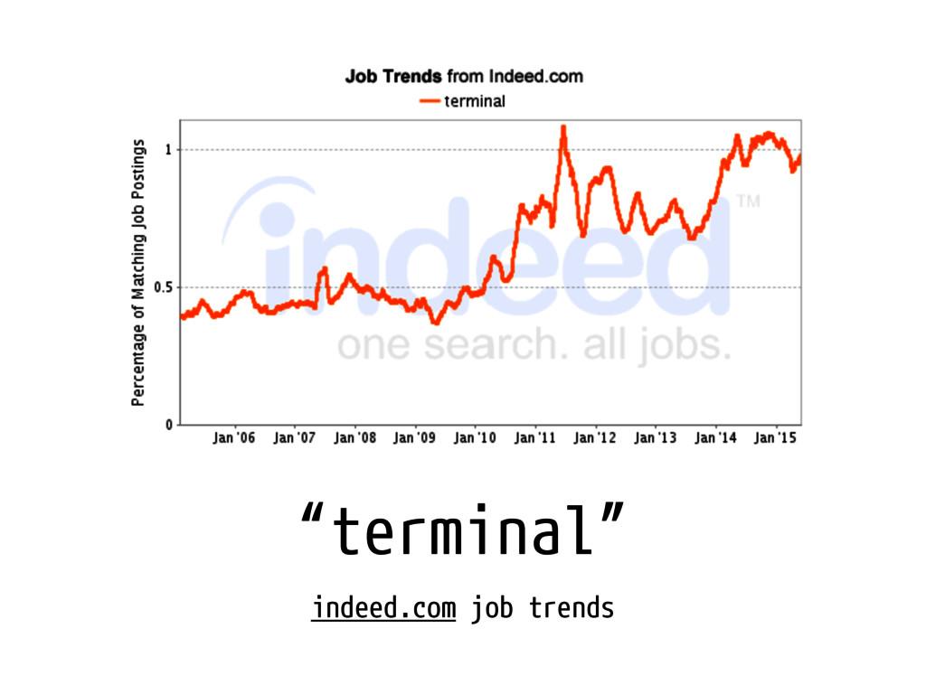 """""""terminal"""" indeed.com job trends"""