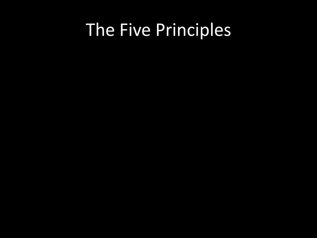The Five Principles
