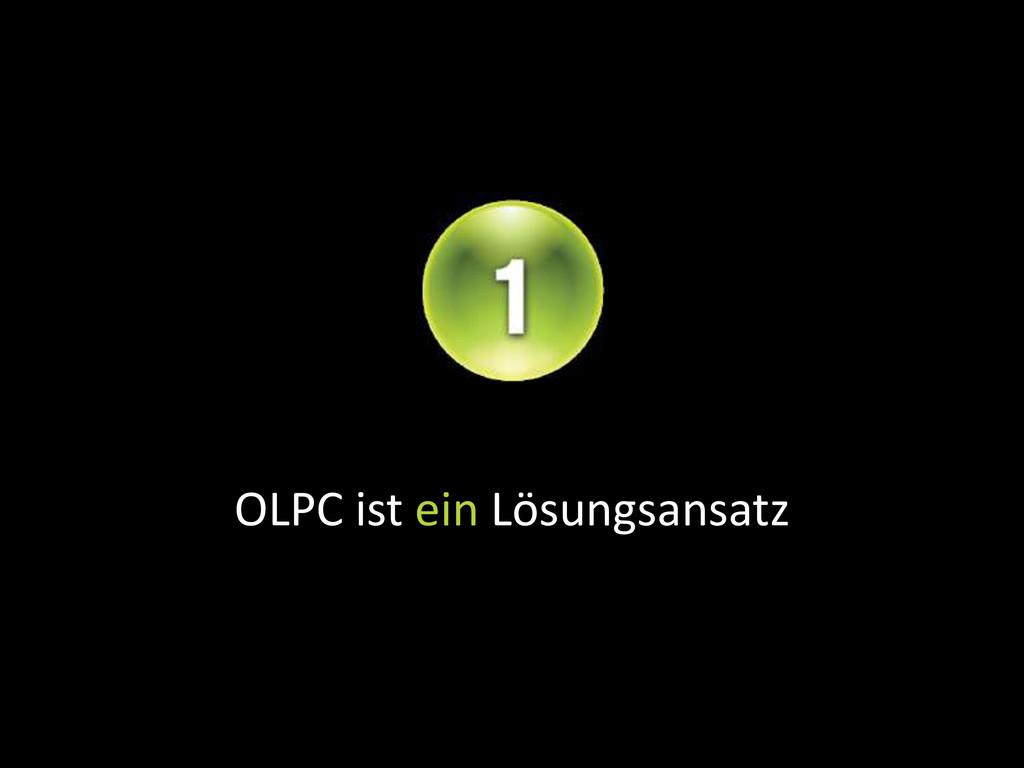 OLPC ist ein Lösungsansatz