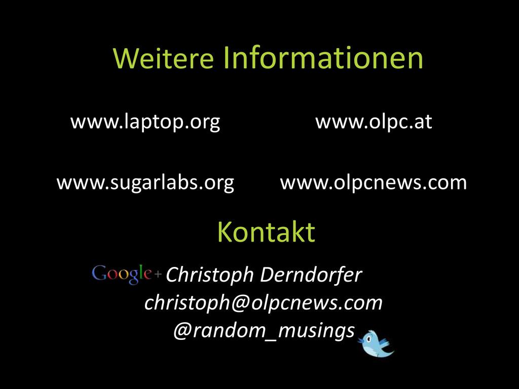 Kontakt www.laptop.org www.sugarlabs.org www.ol...