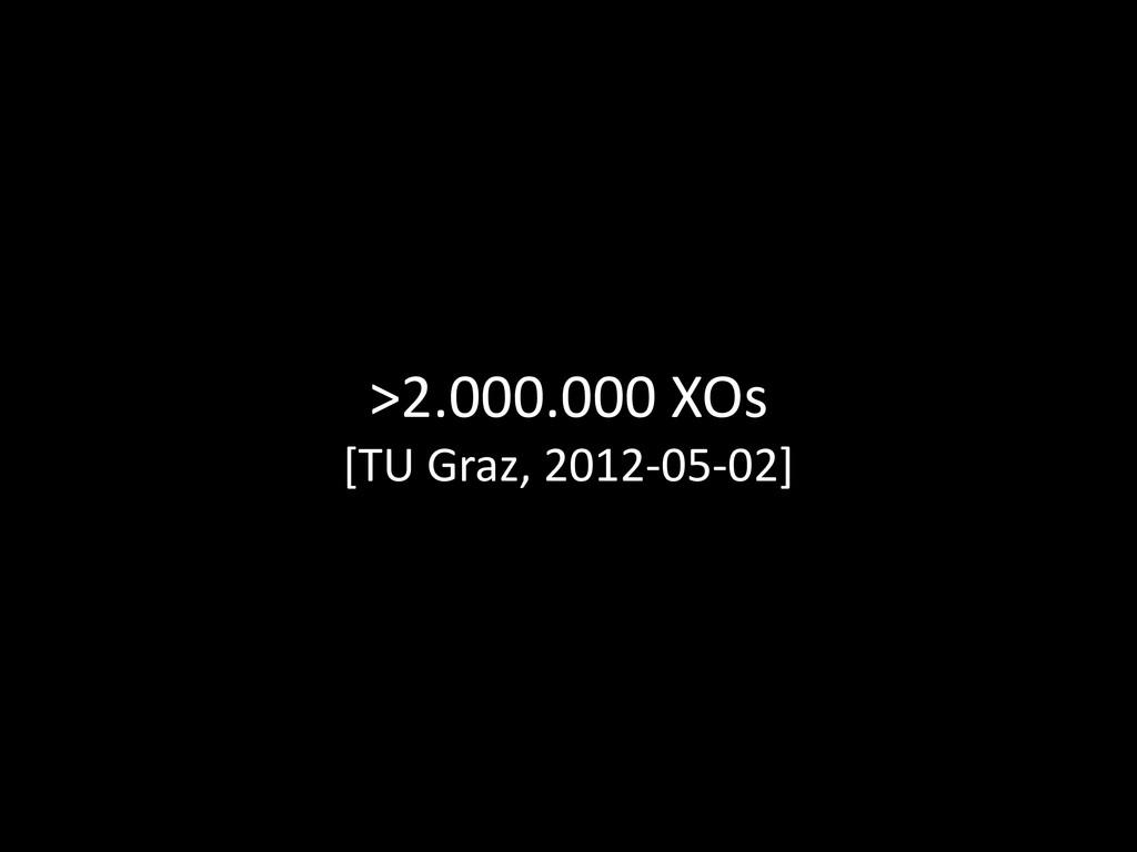 >2.000.000 XOs [TU Graz, 2012-05-02]