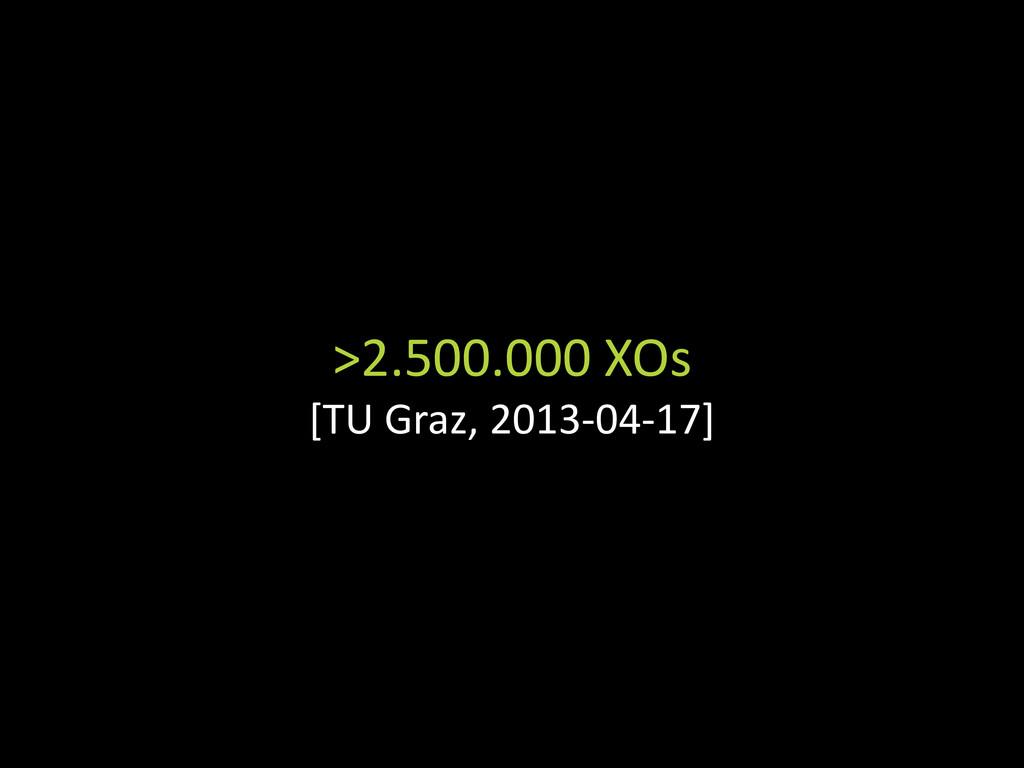 >2.500.000 XOs [TU Graz, 2013-04-17]