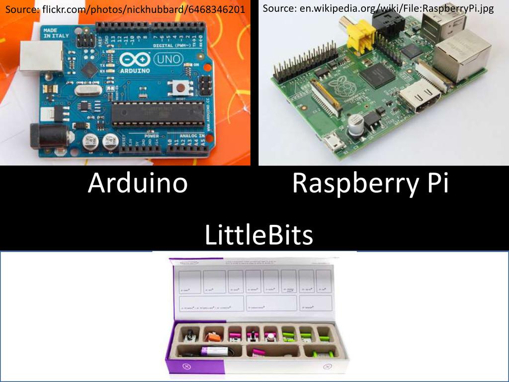 Arduino Raspberry Pi Source: flickr.com/photos/...