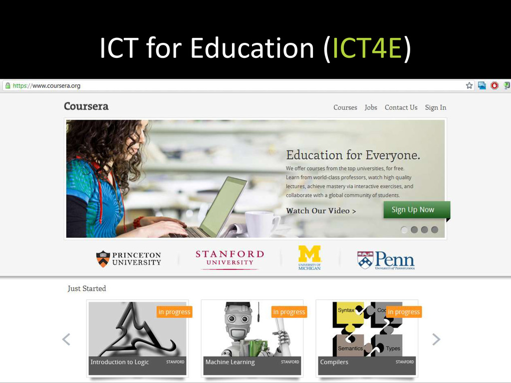 ICT for Education (ICT4E)