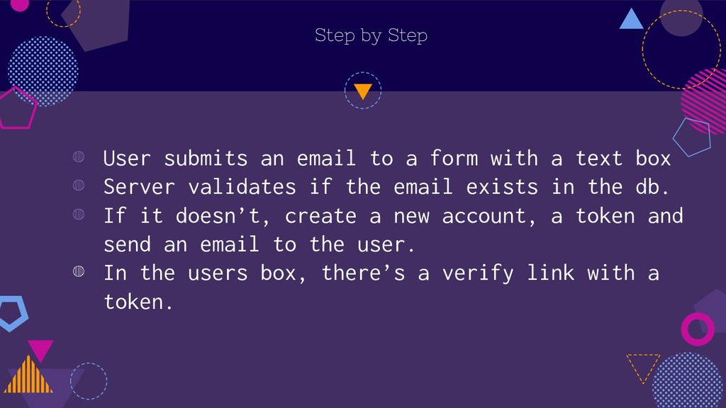Step by Step ◍ User submits an email to a form ...