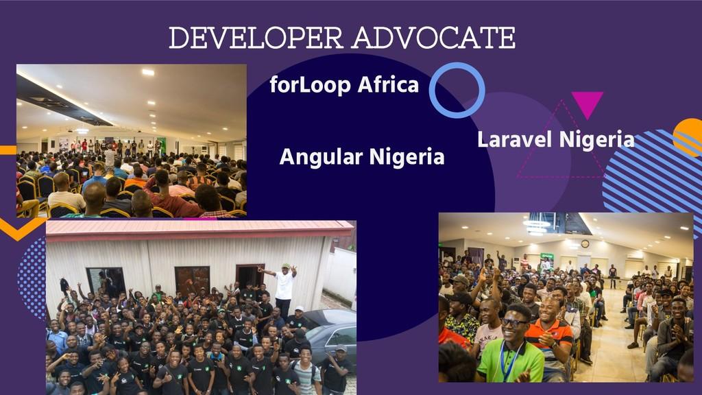 forLoop Africa Angular Nigeria Laravel Nigeria ...