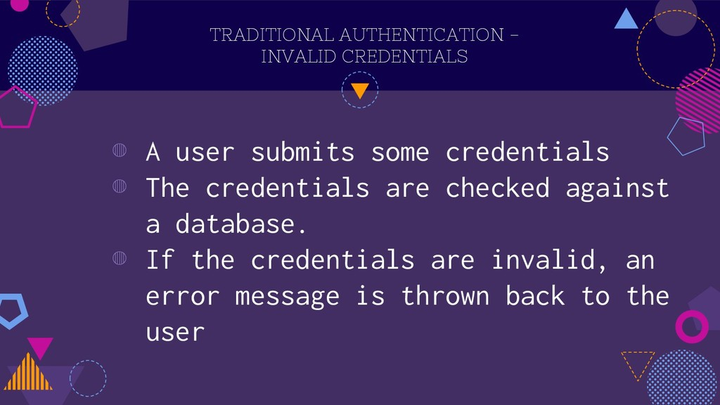 TRADITIONAL AUTHENTICATION - INVALID CREDENTIAL...