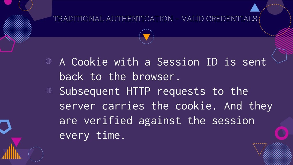 TRADITIONAL AUTHENTICATION - VALID CREDENTIALS ...