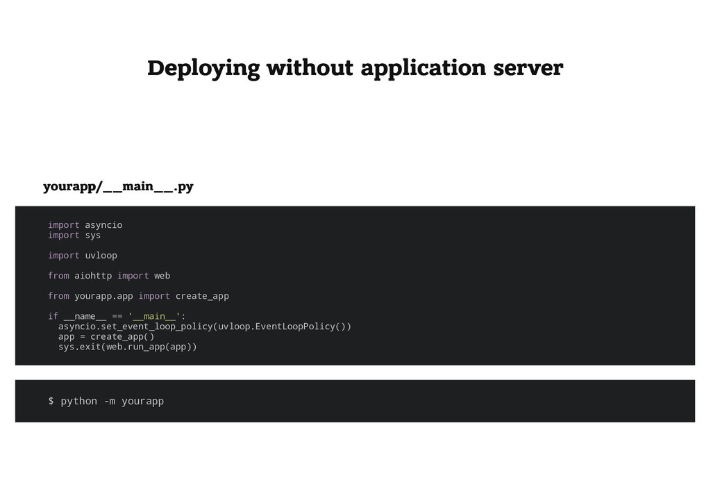 Deploying without application server Deploying ...