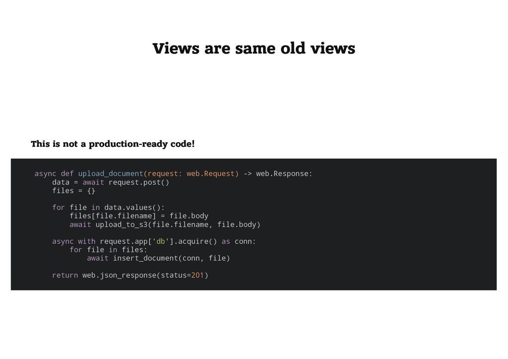 Views are same old views Views are same old vie...