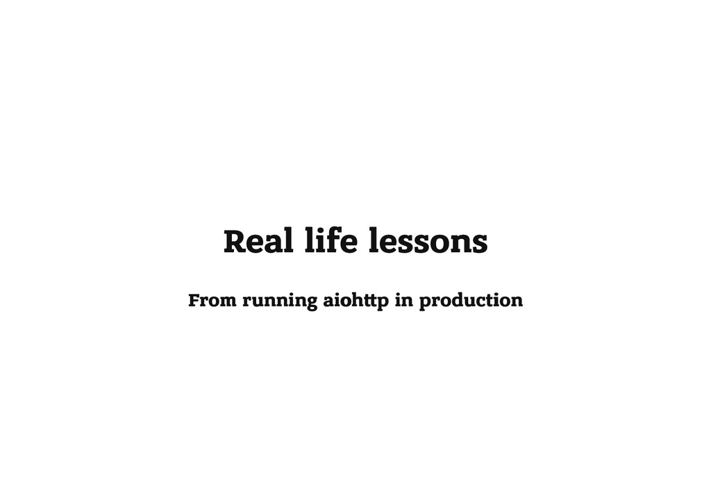 Real life lessons Real life lessons From runnin...