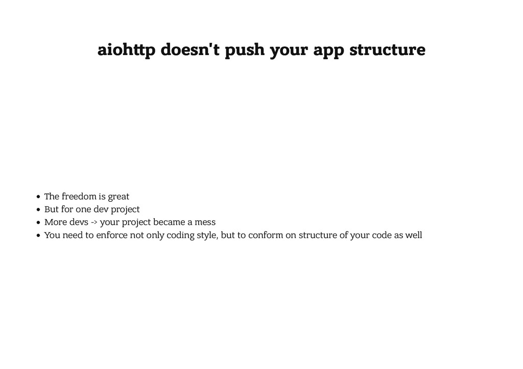 aioh p doesn't push your app structure aioh p d...