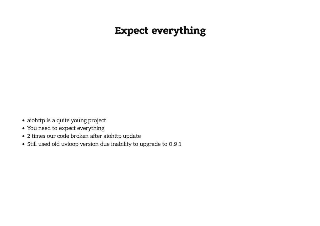 Expect everything Expect everything aioh p is a...