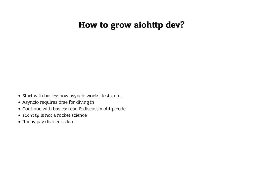 How to grow aioh p dev? How to grow aioh p dev?...