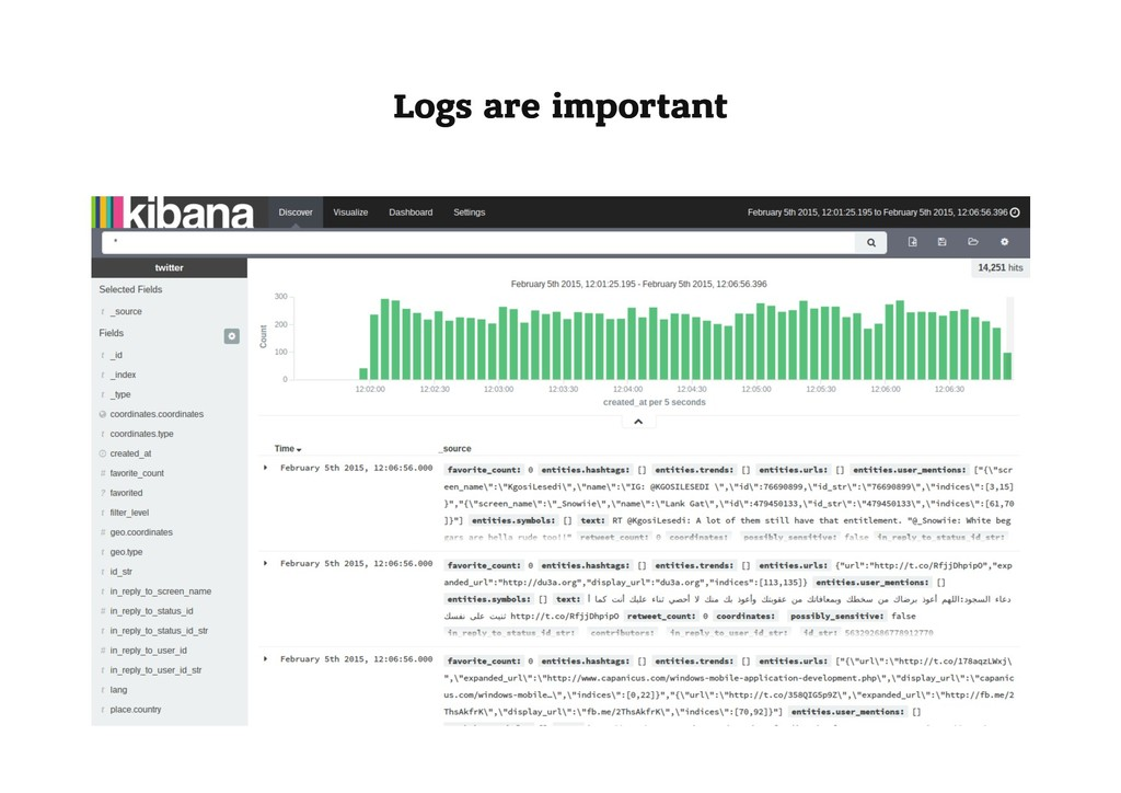 Logs are important Logs are important